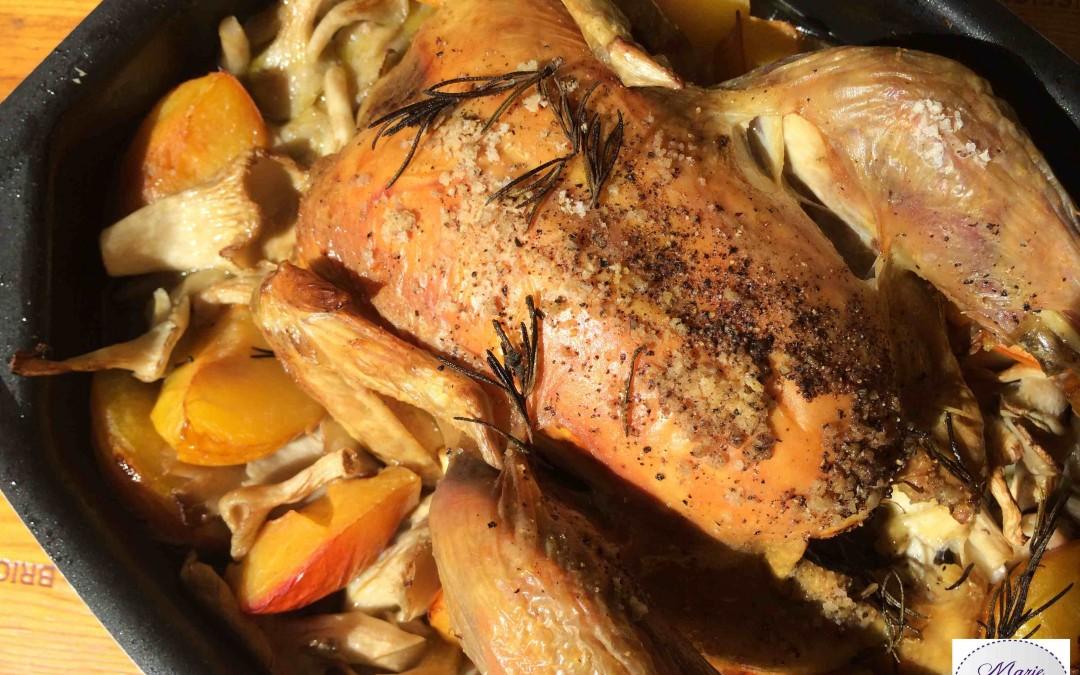 Poulet aux pleurotes et aux prunes, Les saveurs de l'automne…
