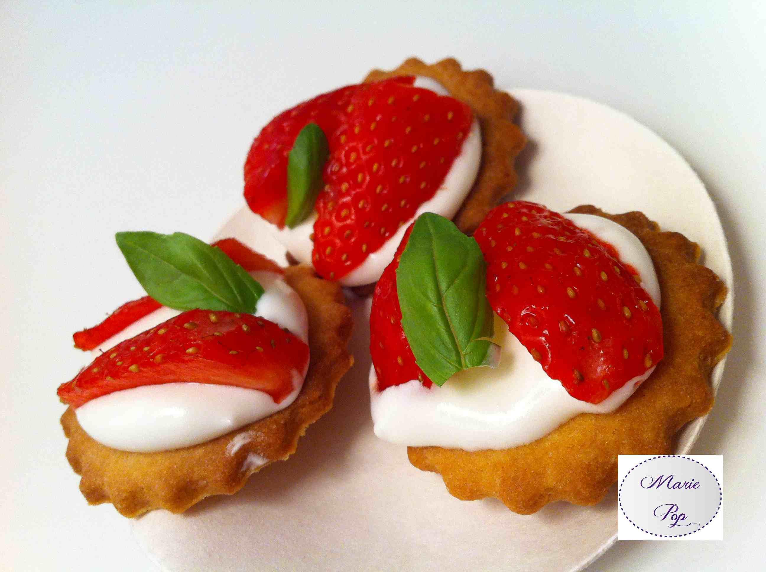 Bouchées façon tarte aux fraises