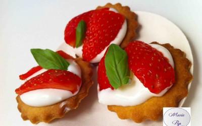 Bouchées façon tarte aux fraises,  Marie Pop en mode chic !