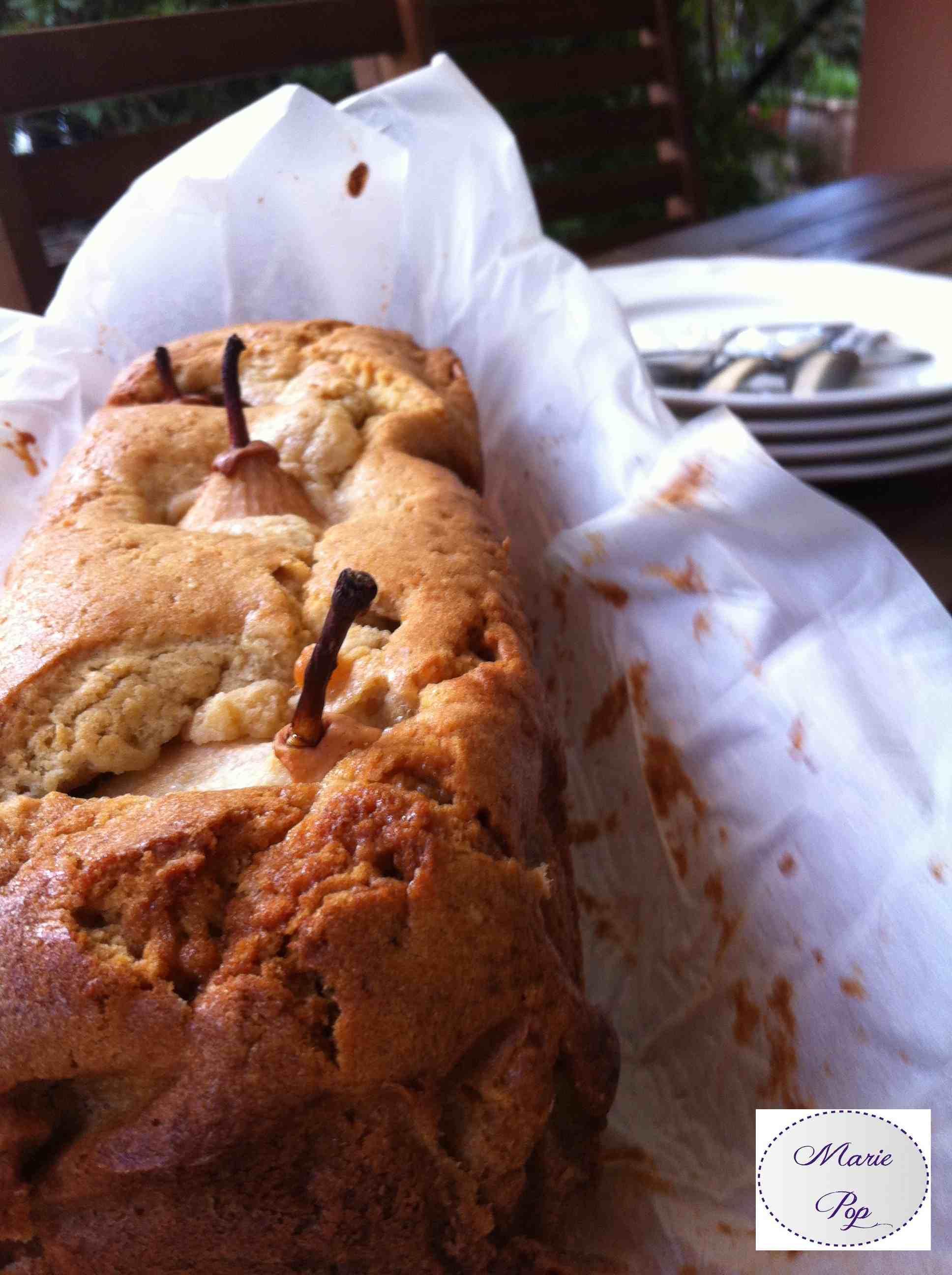 Cake aux Poires debout - la recette