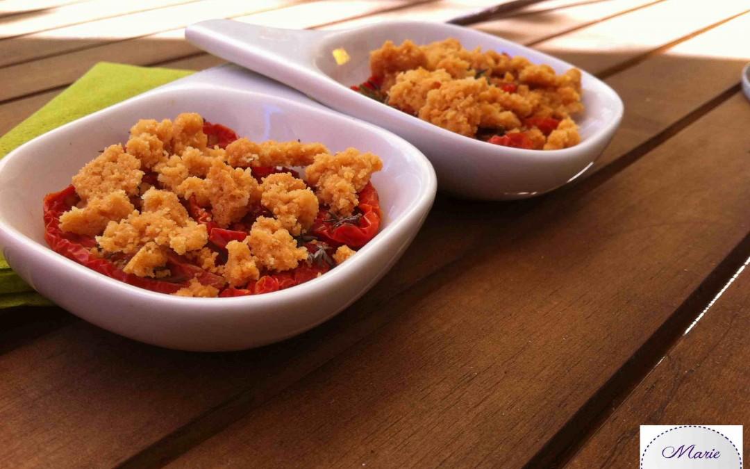 Crumble de Parmesan aux tomates confites – Marie Pop se lèche les babines !