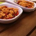 Crumble parmesan aux tomates confites - la recette
