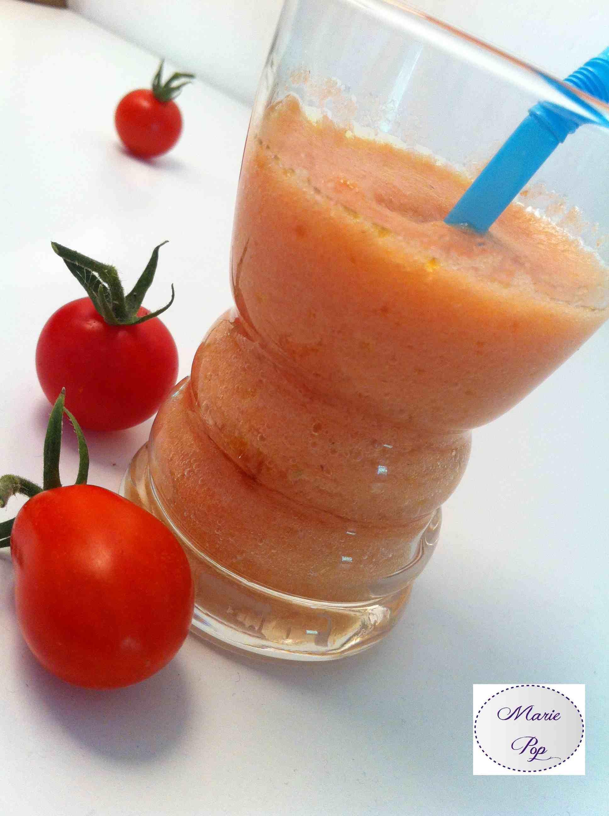 Gaspacho rouge : tomates, concombre, poivron rouge - la recette