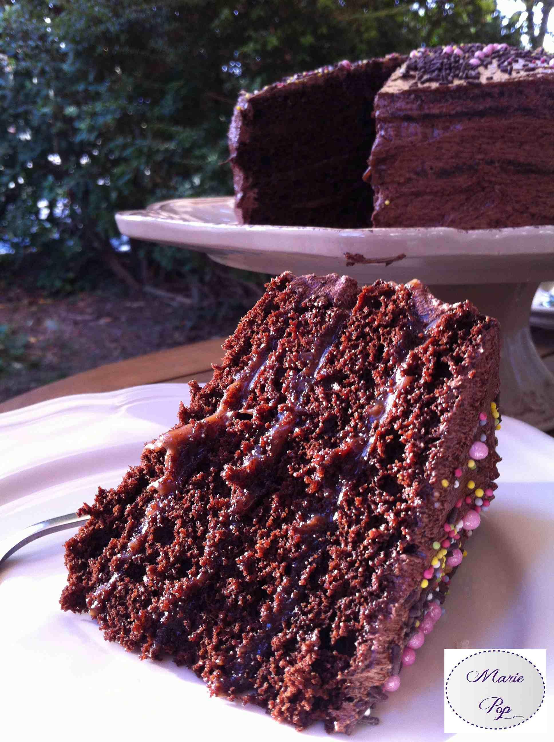 Layer Cake Chocolat Caramel - ma recette