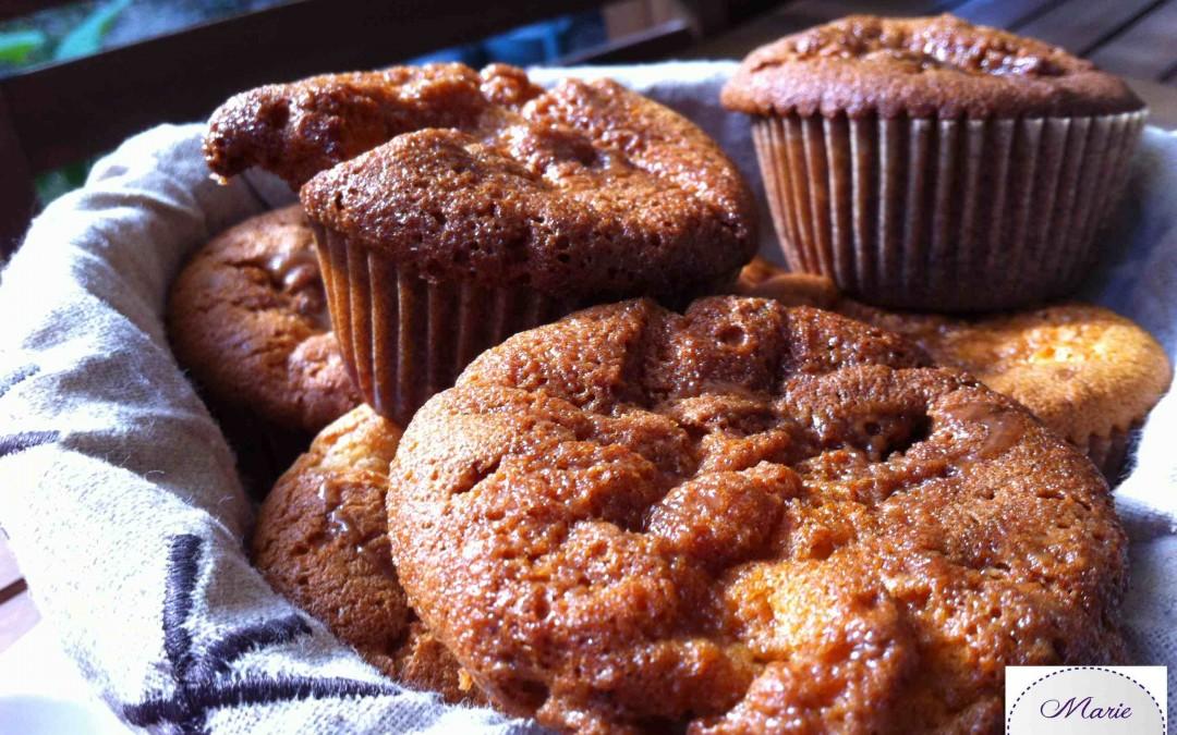 Les Muffins caramel fleur de sel.  Comment vous dire ça… C'est une vraie tuerie !!!! si si !!