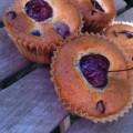 Muffins cerise et chocolat au lait