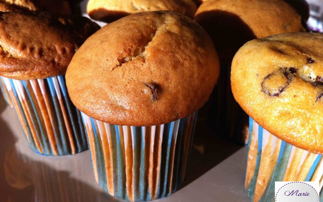 Des muffins aux pépites de chocolat … On goûte quand ?!