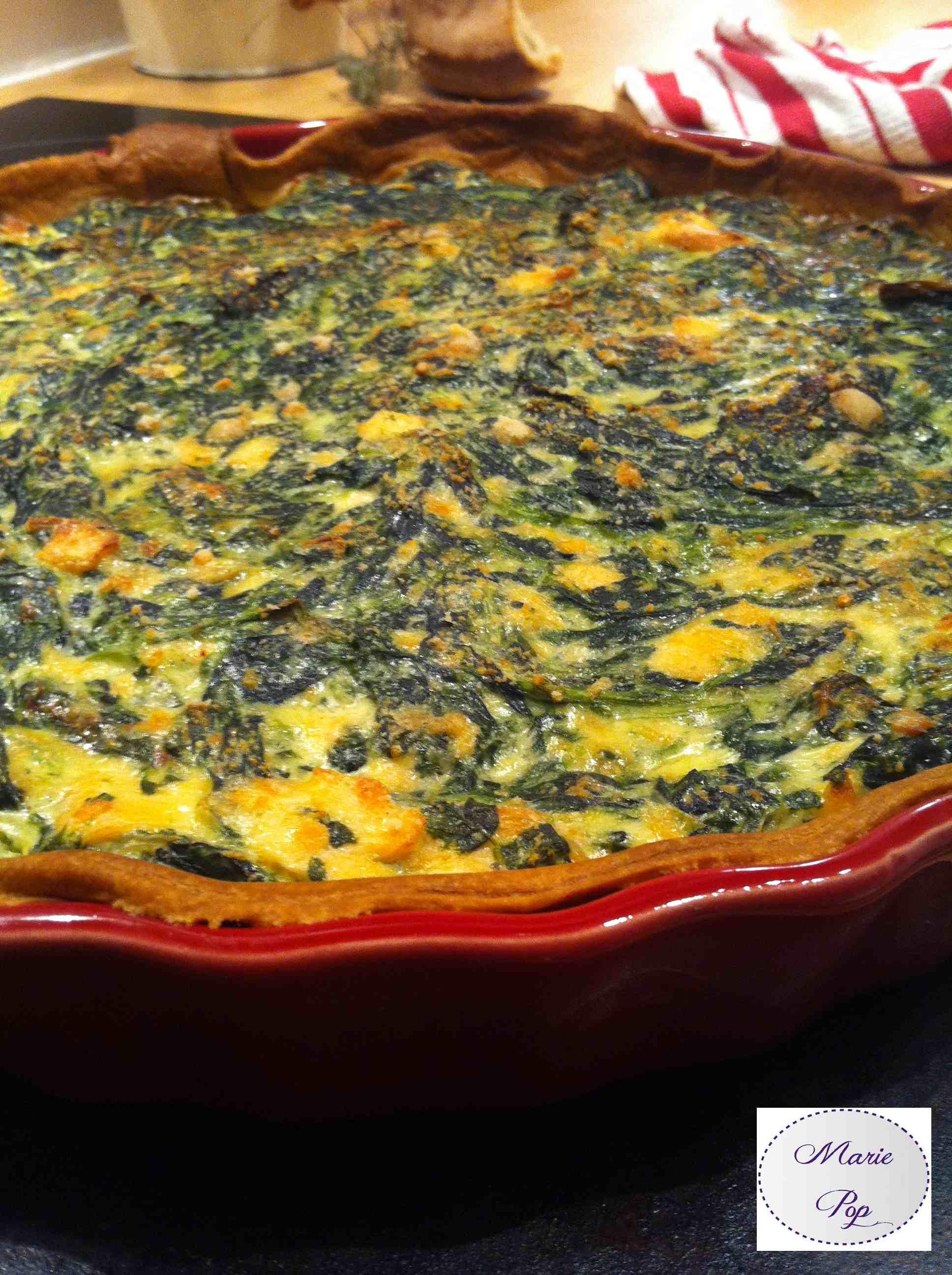 Tarte épinards et saumon - la recette