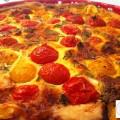 Tarte aux  tomates cerises et fromage de  chèvre