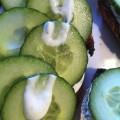 Tartine concombre ciboulette