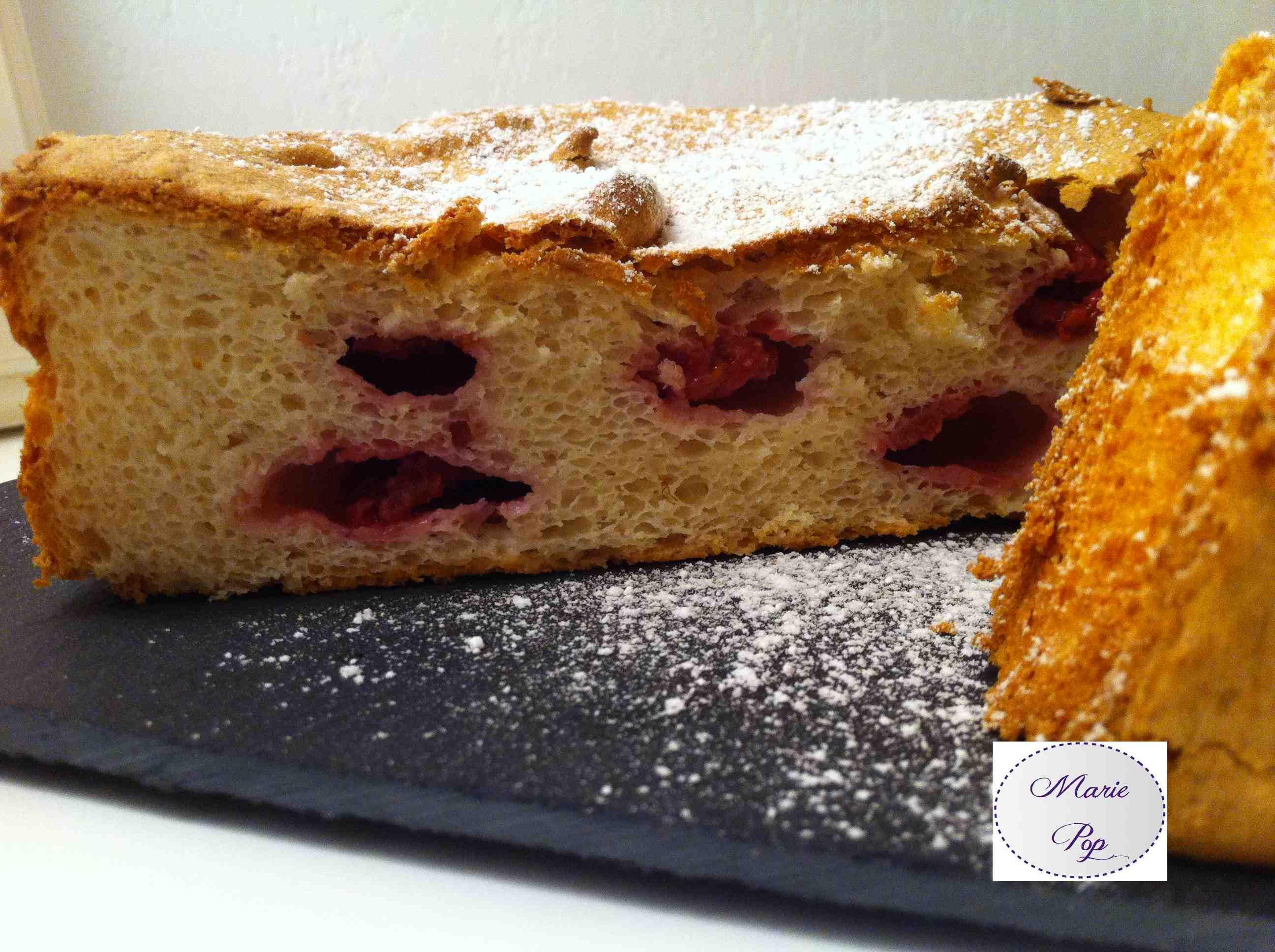 Gâteau des anges aux framboises