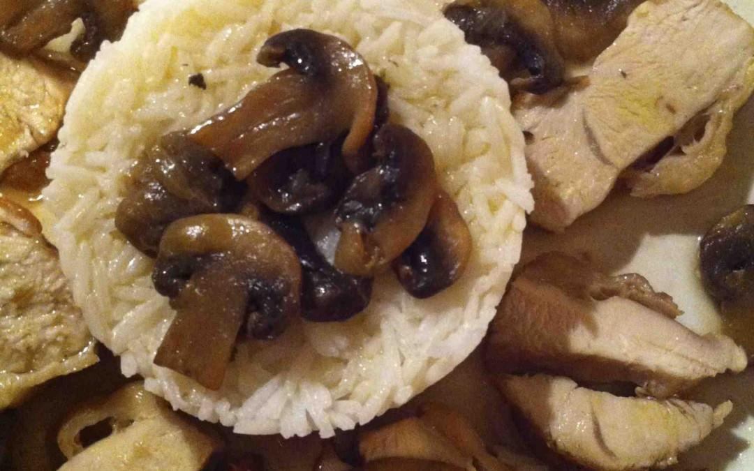 Une poule aux champignons… Que c'est bon !