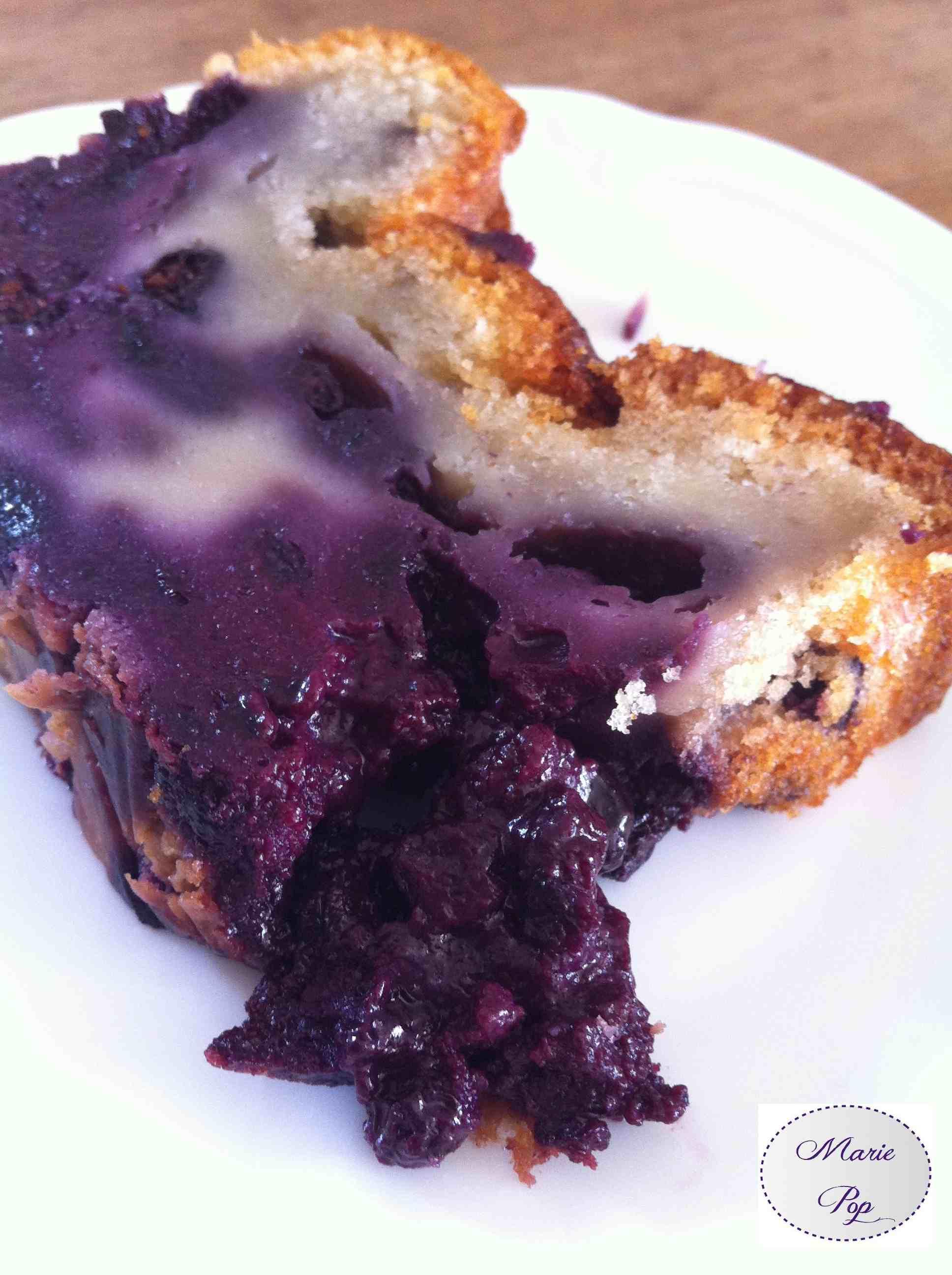 Cake flan aux myrtilles - la recette