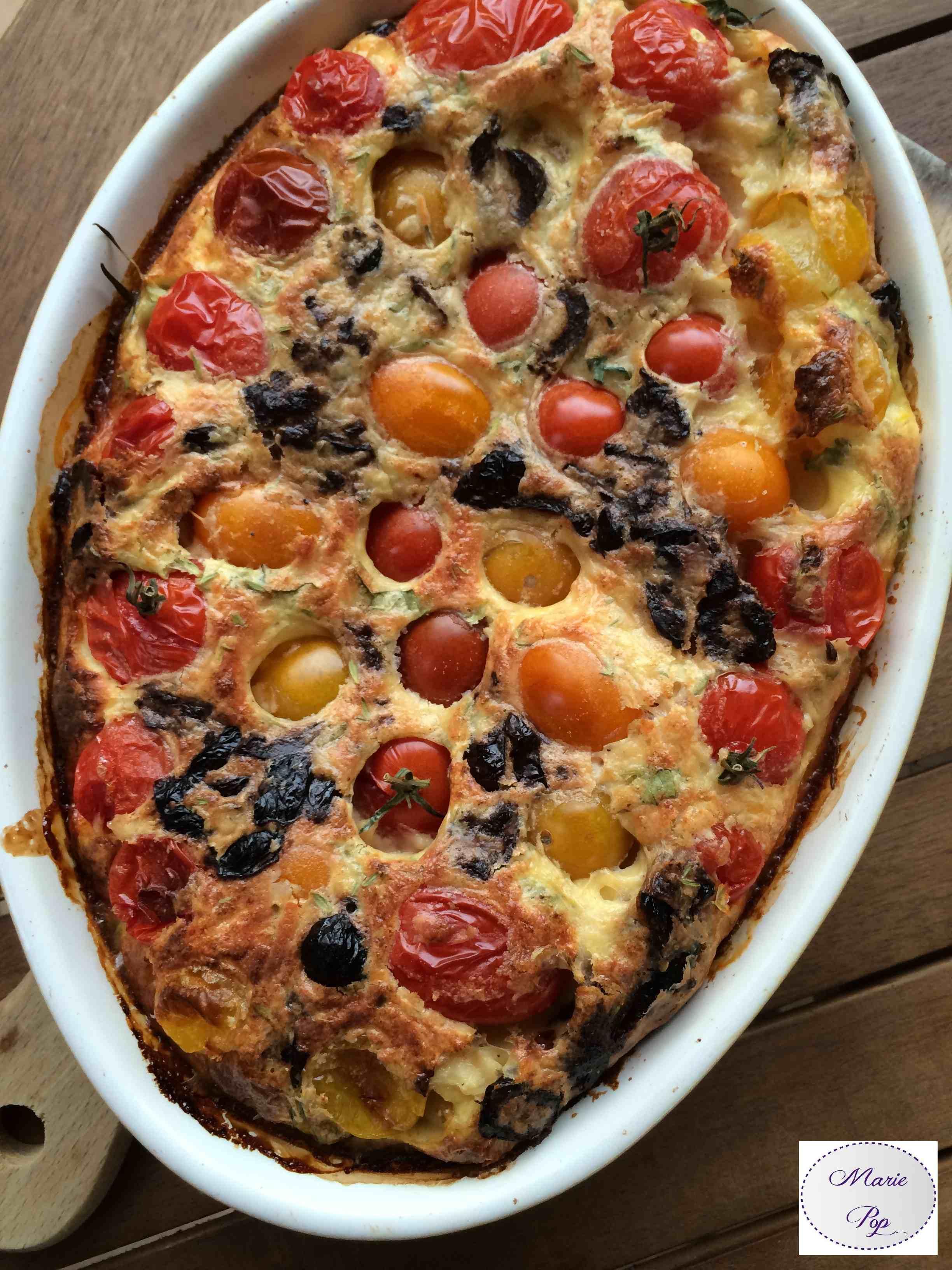 Clafoutis de tomates cerise - la recette