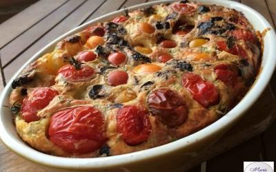 Clafoutis aux tomates cerises… Et voilà un plat ensoleillé à souhait !