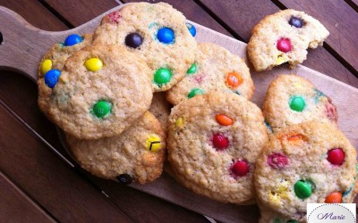 Cookies aux MM's Choco… Marie Pop en mode Arc en Ciel !