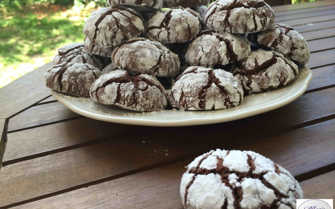 Crinkles Cookies au Chocolat… Marie Pop a la Crinkle Attitude !