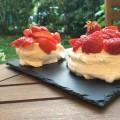Mini pavlova aux fraises - la recette