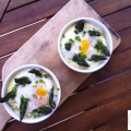 Oeufs cocotte à la crème d'asperges - la recette