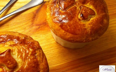 Mini Pie de saumon aux herbes… Marie Pop aime la Saint Valentin gourmande !