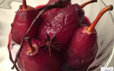 Poires au vin… Marie Pop voit la vie en rouge !