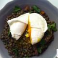 Salade de lentilles et son oeuf poché - la recette