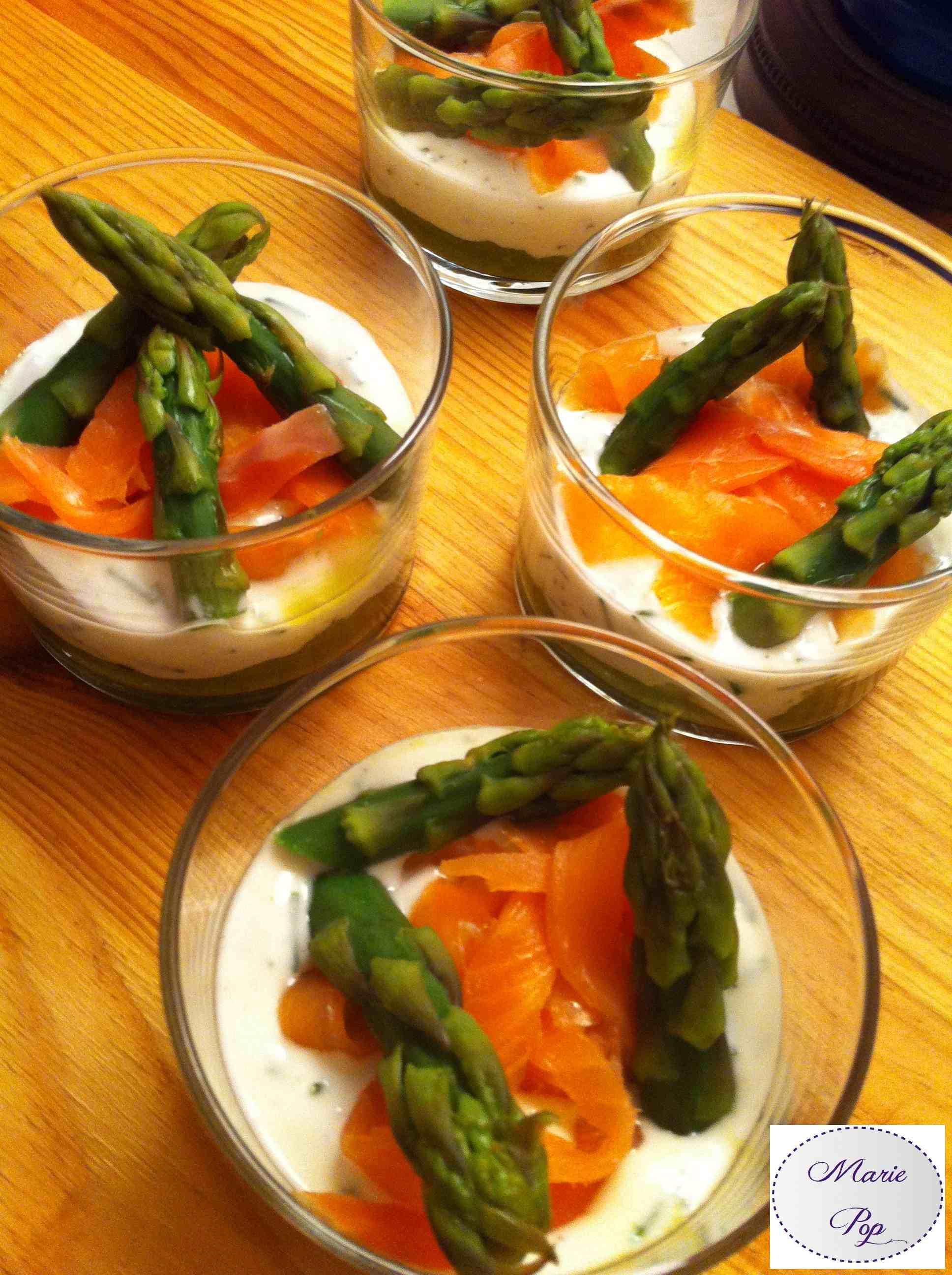 Verrine fraîcheur aux asperges - la recette