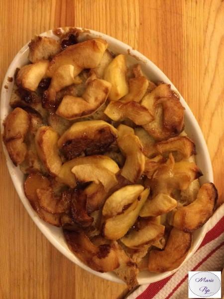 Pain perdu aux pommes en gratin - la recette