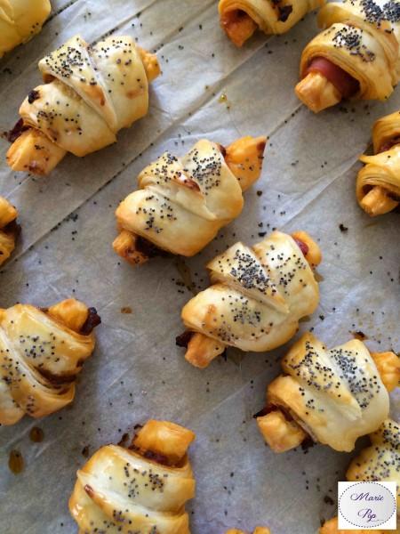 Petits Croissants tomate et jambon de parme - la recette des apéritifs heureux