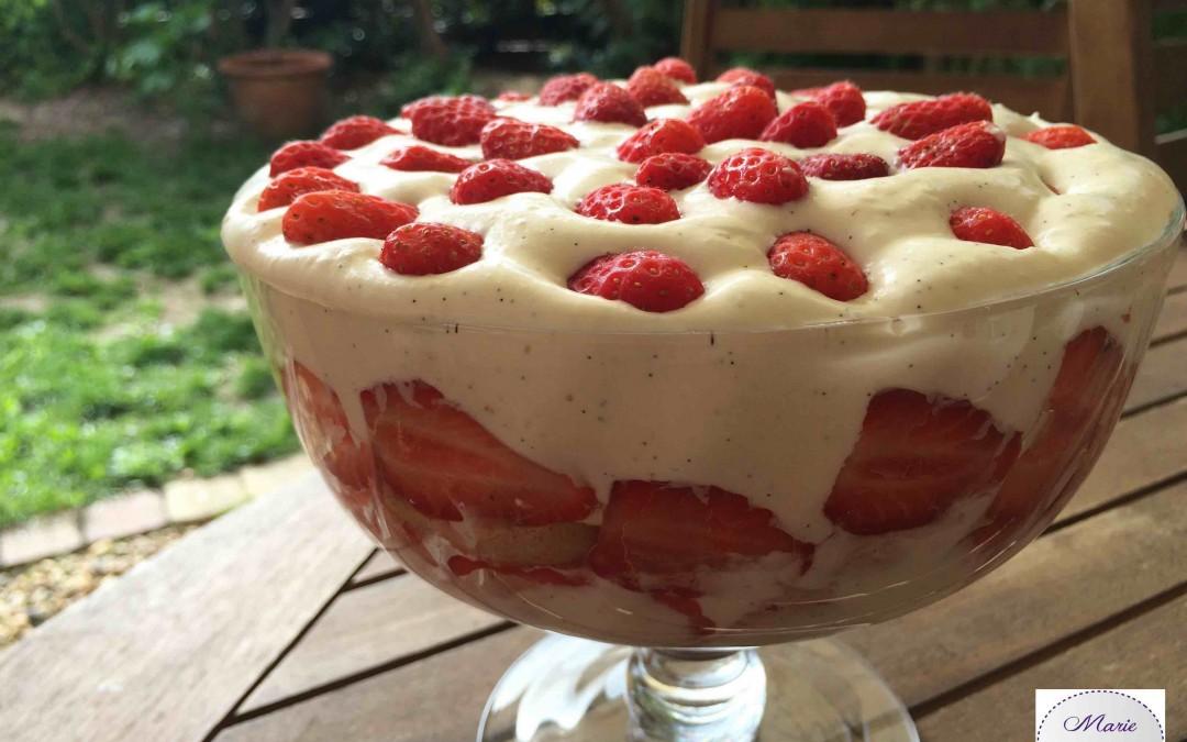 Trifle aux fraises… Un vrai pêché de gourmandise !