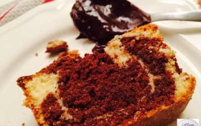 Cake marbré chocolat vanille… il fait perdre la tête de Marie Pop !