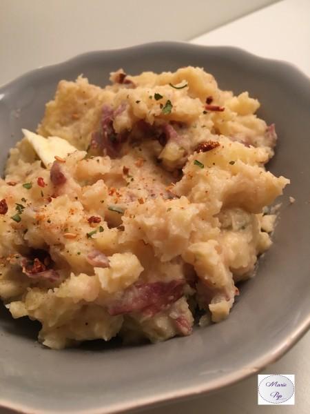 Ecrasée de pommes de terre à l'ail et aux épices - la recette