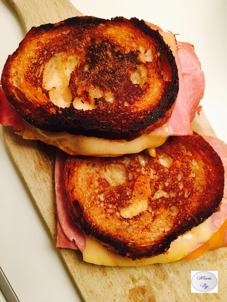 Grilled Cheese Ham Cheddar - la recette